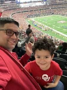 Miguel attended Big 12 Championship: Oklahoma Sooners vs. Baylor Bears - NCAA Football on Dec 7th 2019 via VetTix