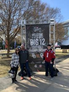 Melvin attended Big 12 Championship: Oklahoma Sooners vs. Baylor Bears - NCAA Football on Dec 7th 2019 via VetTix