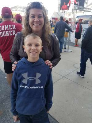 Kaleigh attended Big 12 Championship: Oklahoma Sooners vs. Baylor Bears - NCAA Football on Dec 7th 2019 via VetTix
