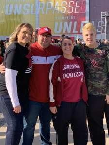 Thomas attended Big 12 Championship: Oklahoma Sooners vs. Baylor Bears - NCAA Football on Dec 7th 2019 via VetTix