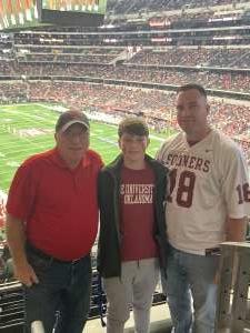 Aaron S.  attended Big 12 Championship: Oklahoma Sooners vs. Baylor Bears - NCAA Football on Dec 7th 2019 via VetTix