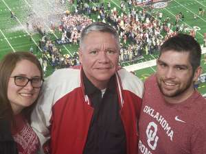 Cody attended Big 12 Championship: Oklahoma Sooners vs. Baylor Bears - NCAA Football on Dec 7th 2019 via VetTix
