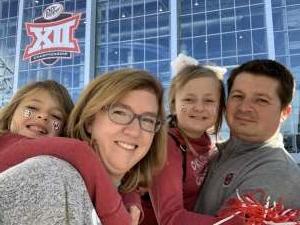 Stephanie attended Big 12 Championship: Oklahoma Sooners vs. Baylor Bears - NCAA Football on Dec 7th 2019 via VetTix