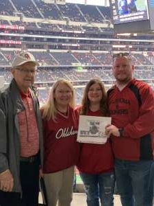 Kyle attended Big 12 Championship: Oklahoma Sooners vs. Baylor Bears - NCAA Football on Dec 7th 2019 via VetTix