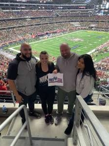 Russell attended Big 12 Championship: Oklahoma Sooners vs. Baylor Bears - NCAA Football on Dec 7th 2019 via VetTix