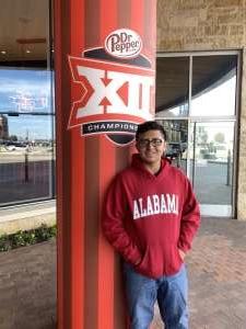 Christopher attended Big 12 Championship: Oklahoma Sooners vs. Baylor Bears - NCAA Football on Dec 7th 2019 via VetTix