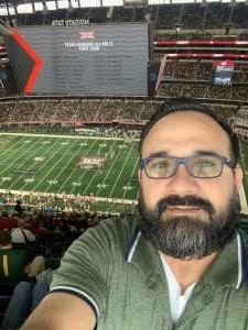 Jose attended Big 12 Championship: Oklahoma Sooners vs. Baylor Bears - NCAA Football on Dec 7th 2019 via VetTix
