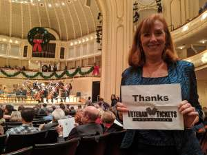 Lynn attended Higdon and Tchaikovsky 4 - Presented by the Chicago Symphony Orchestra on Dec 7th 2019 via VetTix
