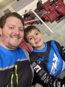 Joshua attended Monster Energy Supercross on Jan 11th 2020 via VetTix