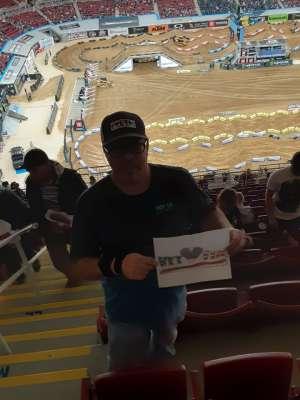 Richard attended Monster Energy Supercross on Jan 11th 2020 via VetTix