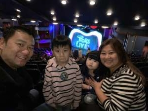 tsz yeung attended Trolls Live! - Presented by Vstar Entertainment on Dec 30th 2019 via VetTix