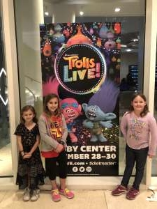 Garrett attended Trolls Live! - Presented by Vstar Entertainment on Dec 30th 2019 via VetTix