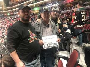 Brian attended Arizona Coyotes vs. Chicago Blackhawks - NHL on Dec 12th 2019 via VetTix