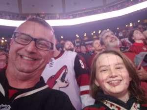 Christopher attended Arizona Coyotes vs. Chicago Blackhawks - NHL on Dec 12th 2019 via VetTix