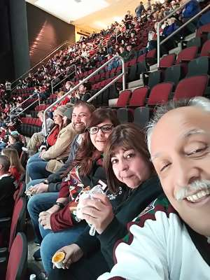Carlos attended Arizona Coyotes vs. Chicago Blackhawks - NHL on Dec 12th 2019 via VetTix