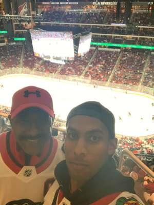 DALE attended Arizona Coyotes vs. Chicago Blackhawks - NHL on Dec 12th 2019 via VetTix