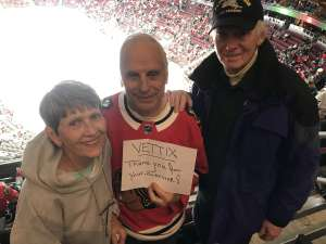 Ron attended Arizona Coyotes vs. Chicago Blackhawks - NHL on Dec 12th 2019 via VetTix