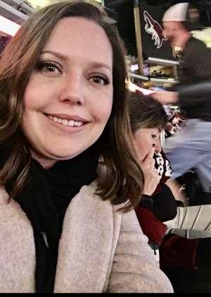 Brandi attended Arizona Coyotes vs. Chicago Blackhawks - NHL on Dec 12th 2019 via VetTix