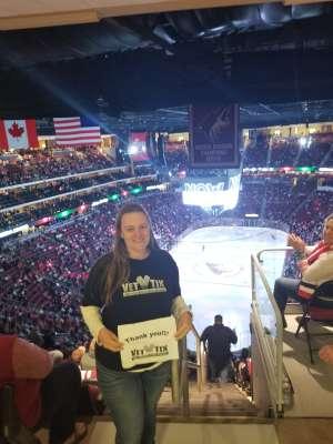 Lindsay attended Arizona Coyotes vs. Chicago Blackhawks - NHL on Dec 12th 2019 via VetTix
