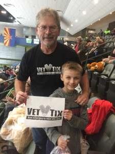 Thomas attended Tucson Roadrunners vs. Ontario Reign - AHL on Dec 21st 2019 via VetTix