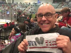 Hugo A attended Tucson Roadrunners vs. Ontario Reign - AHL on Dec 21st 2019 via VetTix