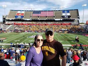 Denise attended 2019 Nova Home Loans Arizona Bowl: Georgia State Panthers vs. Wyoming Cowboys on Dec 31st 2019 via VetTix