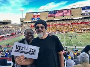 Andres attended 2019 Nova Home Loans Arizona Bowl: Georgia State Panthers vs. Wyoming Cowboys on Dec 31st 2019 via VetTix