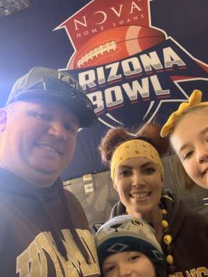 Robert attended 2019 Nova Home Loans Arizona Bowl: Georgia State Panthers vs. Wyoming Cowboys on Dec 31st 2019 via VetTix