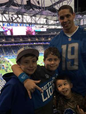 Brice attended Detroit Lions vs. Tampa Bay Buccaneers - NFL on Dec 15th 2019 via VetTix