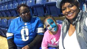 Michele attended Detroit Lions vs. Tampa Bay Buccaneers - NFL on Dec 15th 2019 via VetTix