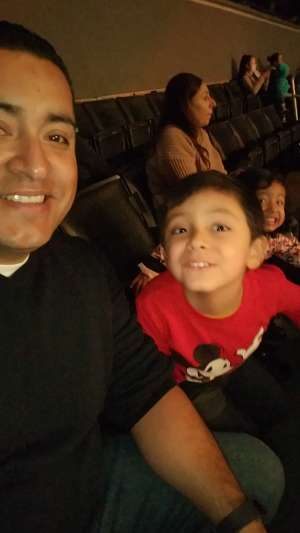 Miguel attended Disney on Ice Presents Mickey's Search Party on Dec 12th 2019 via VetTix