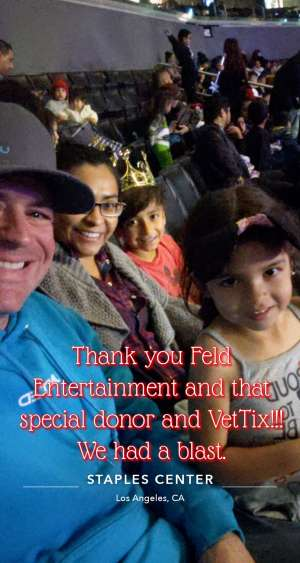 Paul attended Disney on Ice Presents Mickey's Search Party on Dec 12th 2019 via VetTix