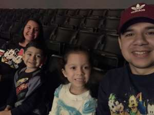 Oswaldo attended Disney on Ice Presents Mickey's Search Party on Dec 12th 2019 via VetTix