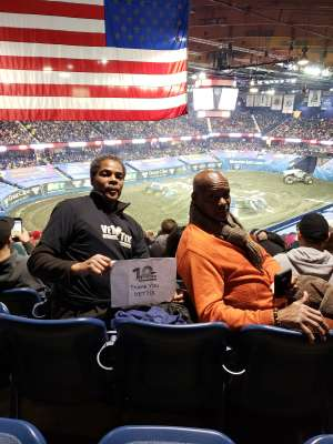 Frederick attended Monster Jam Triple Threat Series on Feb 28th 2020 via VetTix