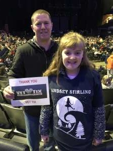 Jason attended Lindsey Stirling - Warmer in the Winter Christmas Tour 2019 on Dec 14th 2019 via VetTix