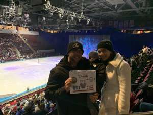 Ed attended Disney on Ice Presents Worlds of Enchantment on Dec 28th 2019 via VetTix