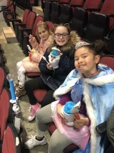 chari attended Disney on Ice Presents Worlds of Enchantment on Dec 28th 2019 via VetTix