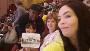 Ptah attended Nick Jr. Live! Move to the Music on Jan 11th 2020 via VetTix