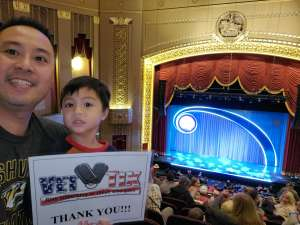 Sam attended Nick Jr. Live! Move to the Music on Jan 12th 2020 via VetTix