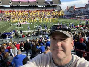 Justin attended 2019 Nova Home Loans Arizona Bowl: Georgia State Panthers vs. Wyoming Cowboys on Dec 31st 2019 via VetTix