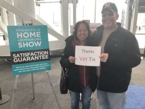 Timothy attended 2020 Minneapolis Home + Remodeling Show on Jan 24th 2020 via VetTix