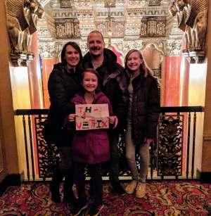 Jeffrey attended The Spongebob Musical on Dec 24th 2019 via VetTix
