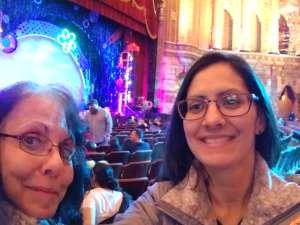 Catalina attended The Spongebob Musical on Dec 24th 2019 via VetTix