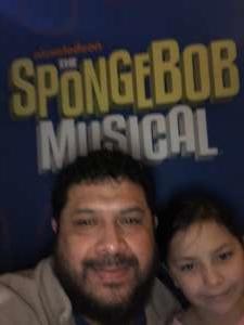 Ernesto attended The Spongebob Musical on Dec 24th 2019 via VetTix