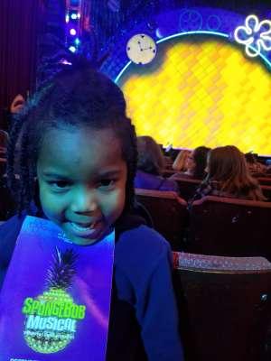 Daniel attended The Spongebob Musical on Dec 24th 2019 via VetTix