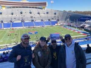 Eddie attended 2019 Auto Zone Liberty Bowl - Navy Midshipmen vs. Kansas State Wildcats - NCAA Football on Dec 31st 2019 via VetTix