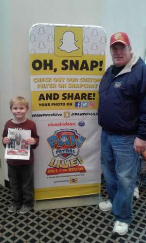 Mike attended Paw Patrol Live - Race to the Rescue on Jan 4th 2020 via VetTix