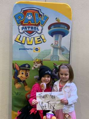 John attended Paw Patrol Live - Race to the Rescue on Jan 4th 2020 via VetTix