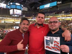 Alonzo attended Matchroom Boxing USA Jacobs vs. Chavez Jr on Dec 20th 2019 via VetTix
