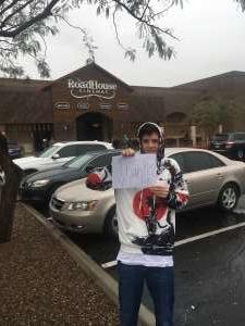 Lorenzo attended RoadHouse Cinemas Thursday for Vets on Jan 16th 2020 via VetTix